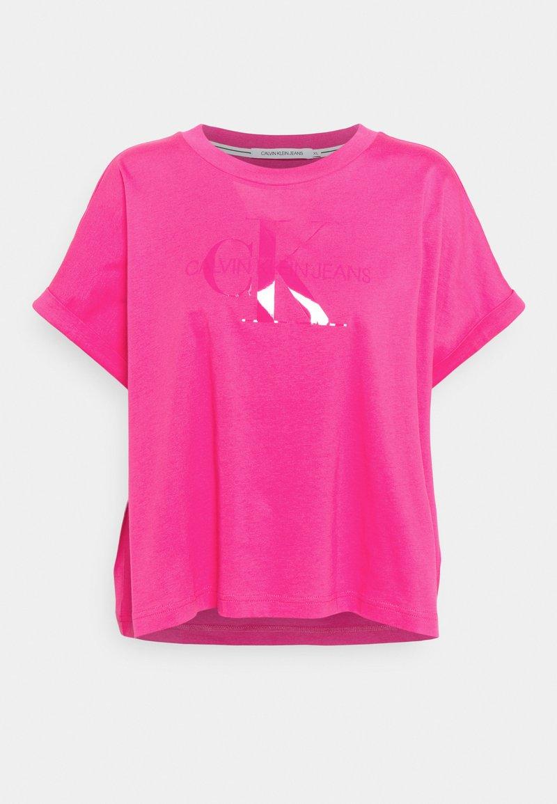 Calvin Klein Jeans - TONAL MONOGRAM TEE - Print T-shirt - party pink