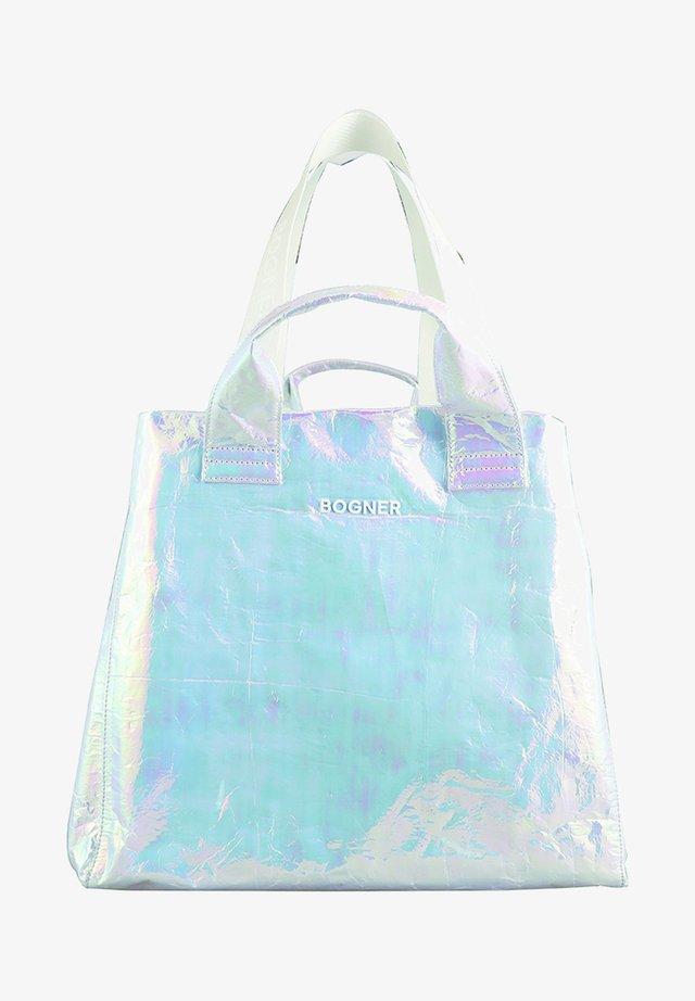 SERFAUS - Shopping bag - metallic white
