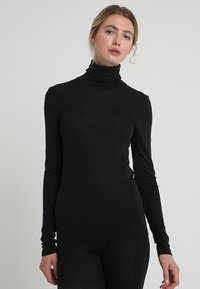 Hanro - WOOLEN-SILK MIX - Undershirt - black - 0