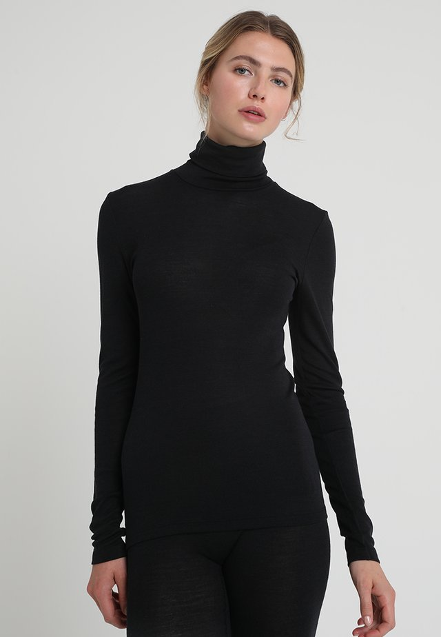 WOOLEN-SILK MIX - Undershirt - black