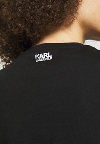 KARL LAGERFELD - SIGNATURE - Triko spotiskem - black - 3