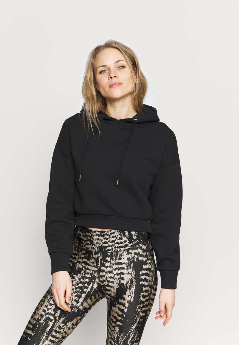 NU-IN - CROPPED HOODIE - Sweatshirt - black
