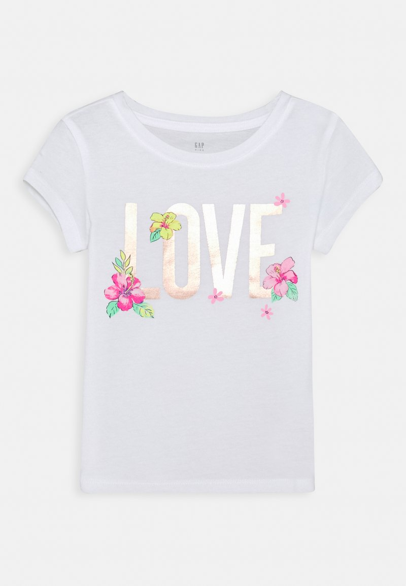 GAP - GIRLS - Camiseta estampada - new off white