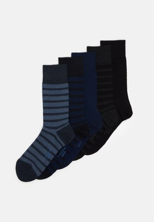 HAPPYBOX 5 PACK - Calze - black/blue/light blue