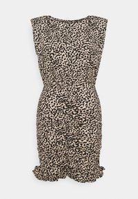 New Look Petite - SHOULDER PAD RUCHED DRESS - Day dress - beige/black - 4