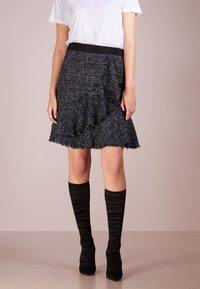 KARL LAGERFELD - SPARKLE BOUCLE - A-line skirt - mood indigo - 0