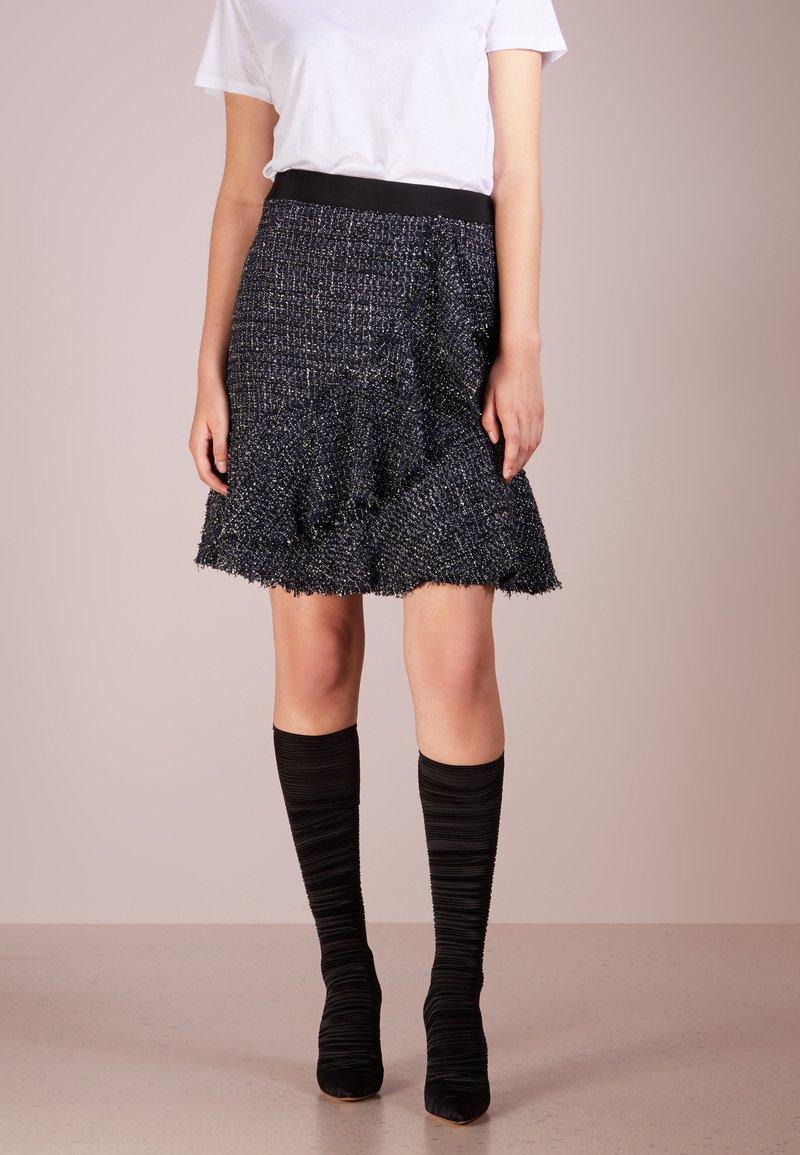 KARL LAGERFELD - SPARKLE BOUCLE - A-line skirt - mood indigo