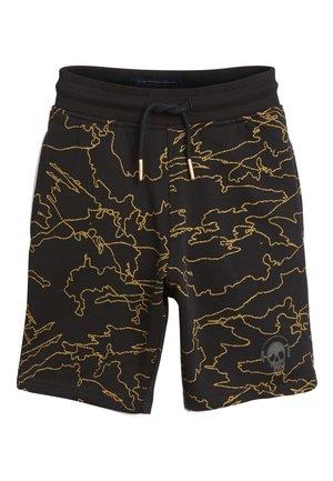 BLACK/GOLD ALL OVER PRINT SHORTS (3-16YRS) - Shorts - black