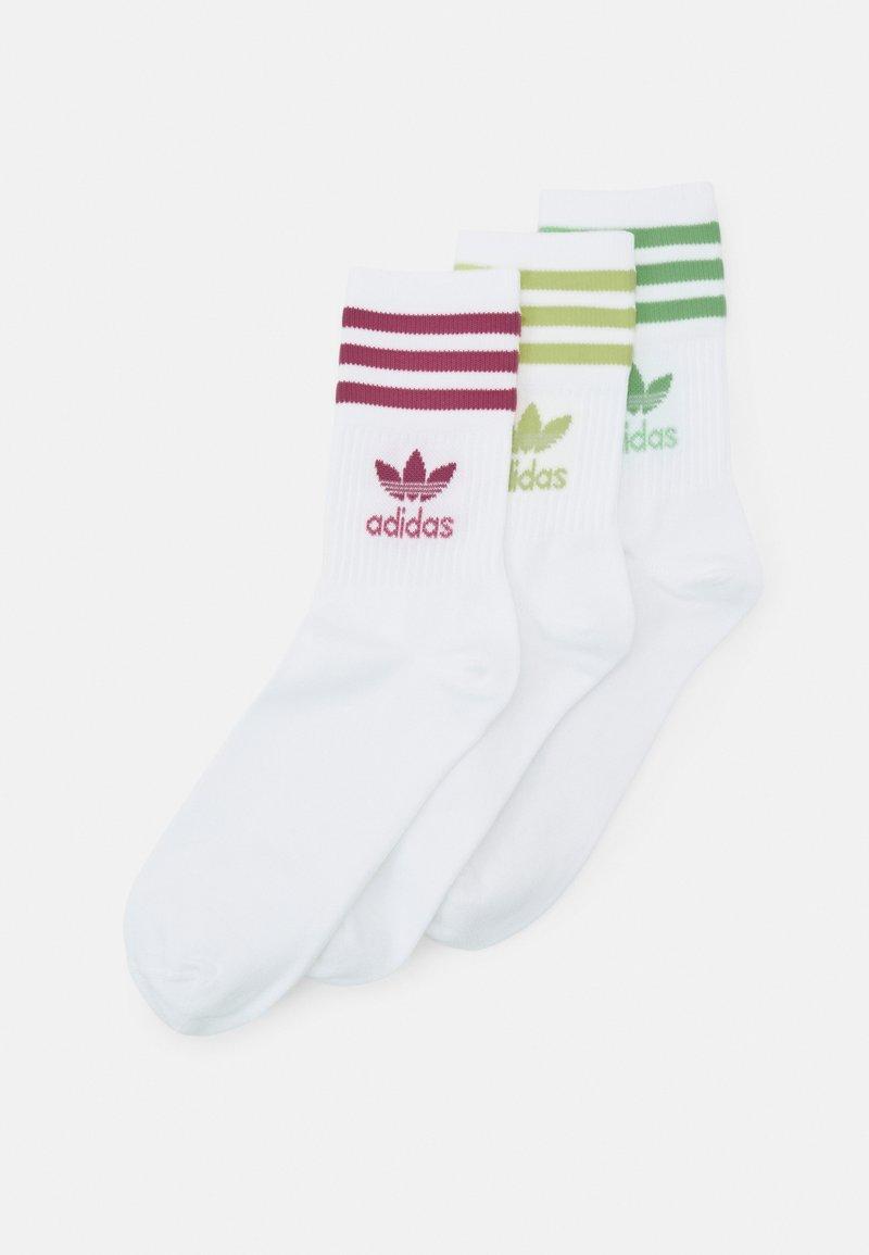 adidas Originals - MID CUT 3 PACK UNISEX - Socks - white