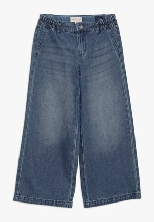 KONLISA WIDE CROPPED - Flared Jeans - medium blue denim