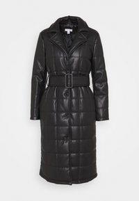 Topshop - QUILTED COAT - Classic coat - black - 0