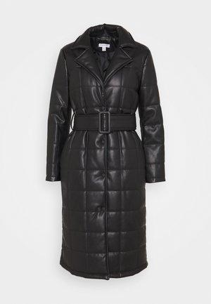 QUILTED COAT - Classic coat - black