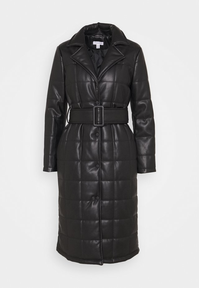 QUILTED COAT - Klassischer Mantel - black