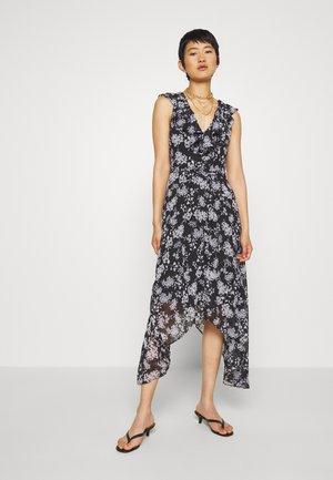 RUFFLE - Maxi dress - black