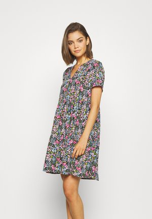 JDYLION LAYER DRESS - Kjole - black/multicolor