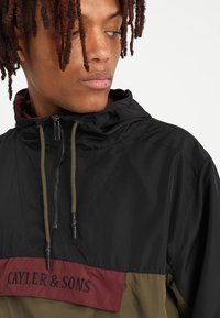 Cayler & Sons - WL ANCHORED ZIP ANORAK - Windbreaker - black/olive - 3