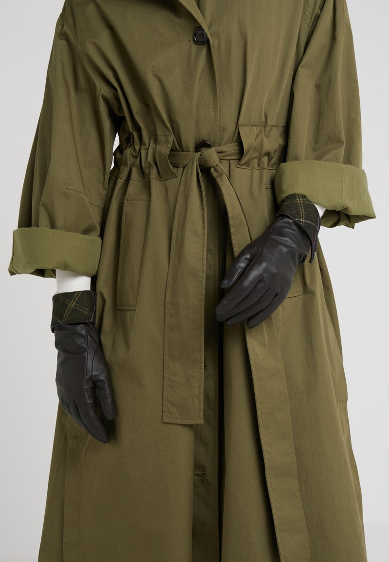 Barbour - LADY JANE GLOVE - Gloves - choc with green