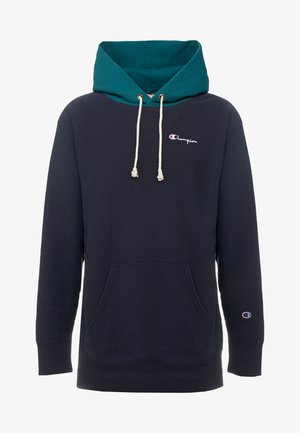 COLOR BLOCK HOODED  - Hættetrøjer - teal