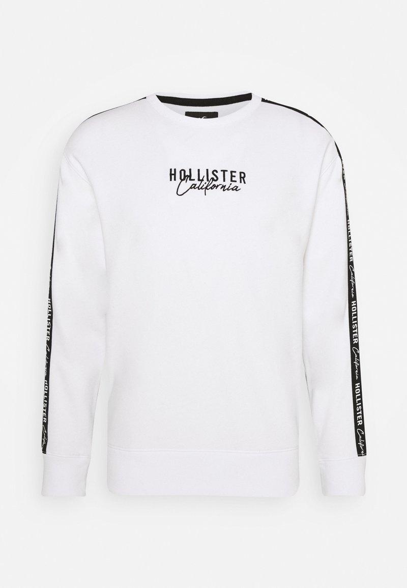 Hollister Co. - SCRIPT LOGO TAPE CREW - Sudadera - white