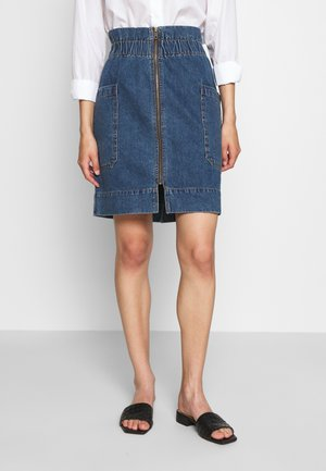 UTILITY SKIRT - Denim skirt - blue