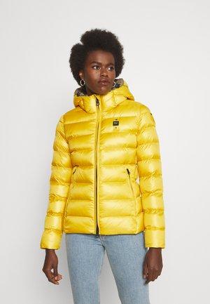 JACKET BICOLOR - Winter jacket - yellow
