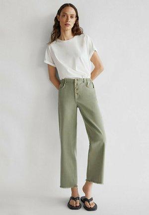 Jeansy Straight Leg - green