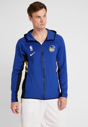 NBA GOLDEN STATE WARRIORS THERMAFLEX FULL ZIP - Trainingsjacke - rush blue/black/amarillo