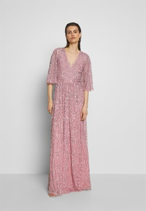 FRONT CAPE SLEEVE DRESS - Abito da sera - pink