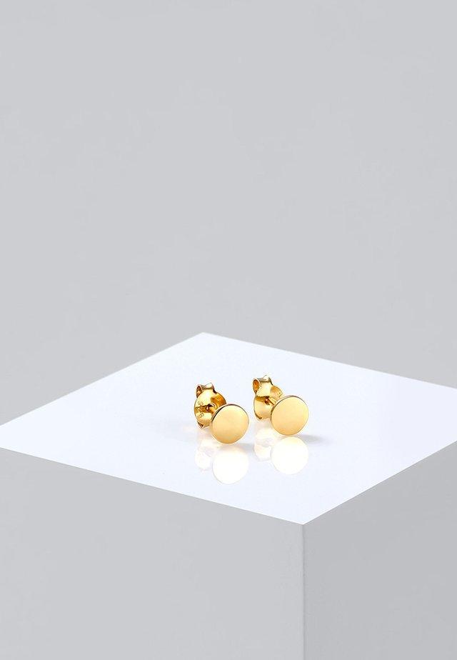 BASIC PLATES - Oorbellen - gold-coloured