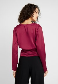 Missguided - WRAP BUTTON - Blouse - burgundy - 2