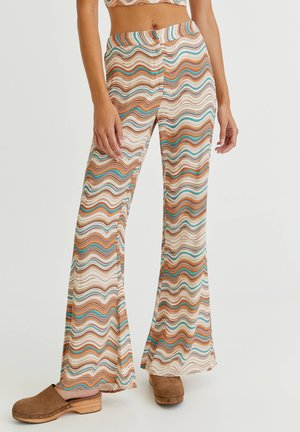 MIT WELLEN - Trousers - mottled light brown