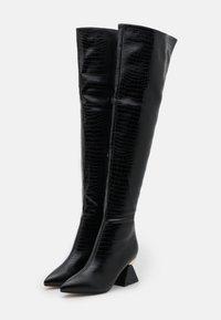 RAID - SPIRAL - Kozačky nad kolena - black - 2