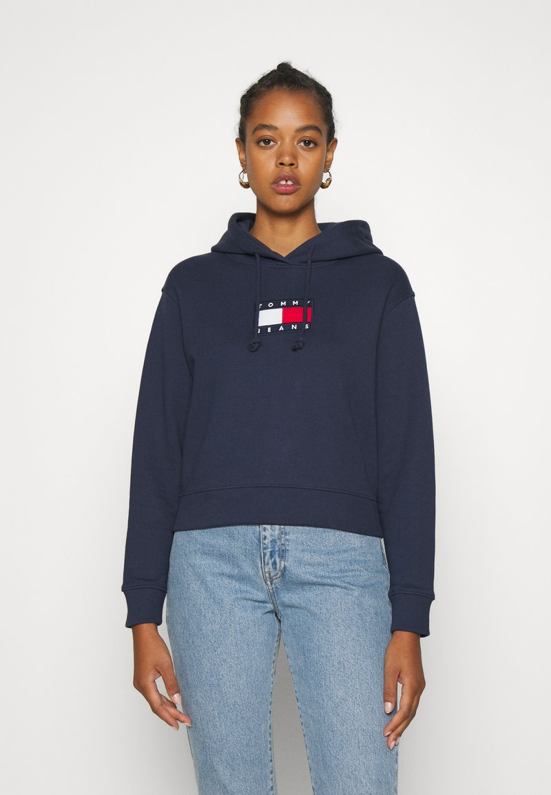 Tommy Jeans - FLAG HOODIE - Sweat à capuche - twilight navy