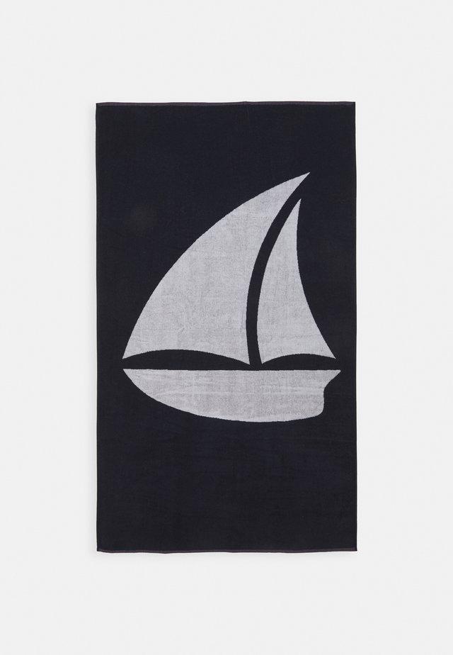 BEACH TOWEL 180x100CM 500 GSM - Ręcznik plażowy - dark blue/white
