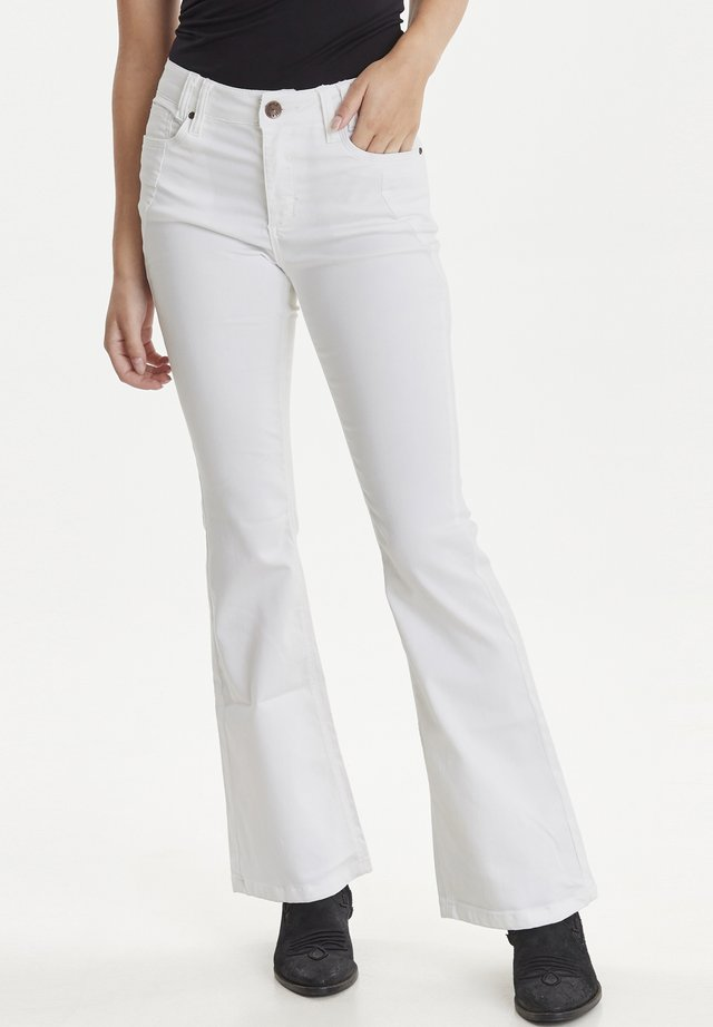 PZRITA  - Flared Jeans - bright white