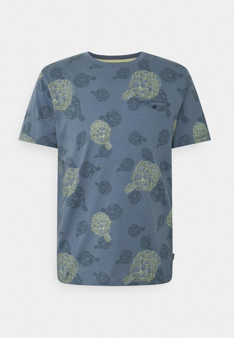 Jack & Jones PREMIUM - JPRARTI POCKET TEE - T-shirt med print - china blue