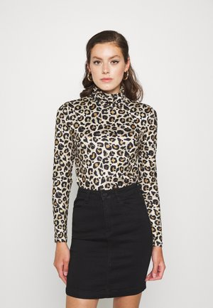 PCNALA PRINT TURTLE NECK - Long sleeved top - natural