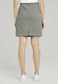 TOM TAILOR - MIT KORDELZUG - A-line skirt - prairie grass green - 3