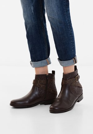 OTAWA_MANDALA - Cowboy/biker ankle boot - brown