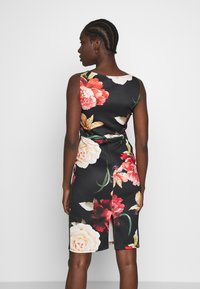 Anna Field - FITTED MIDI SCUBA DRESS  - Etuikjole - black/multicoloured