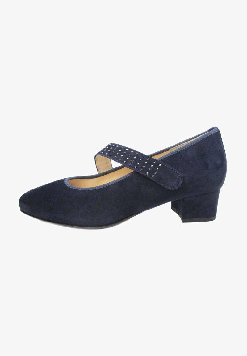 HASSIA - Ankle strap ballet pumps - blau