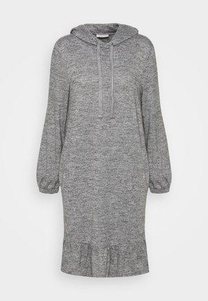 FQLIVANA - Abito in maglia - med. grey melange