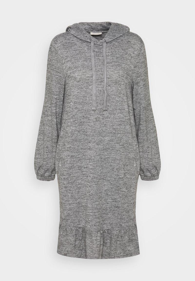 Freequent - FQLIVANA - Gebreide jurk - med. grey melange