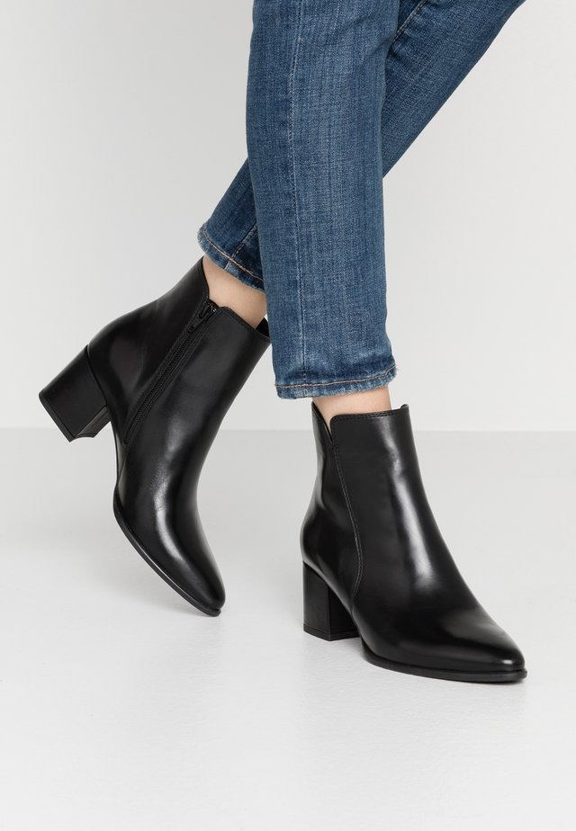 LEATHER BOOTIES - Stiefelette - black