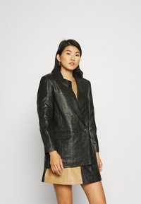 Deadwood - BRENDA - Leren jas - black - 0