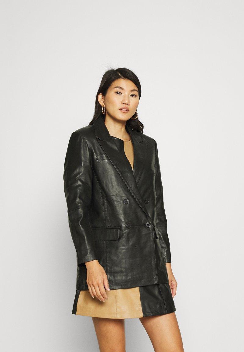 Deadwood - BRENDA - Leren jas - black