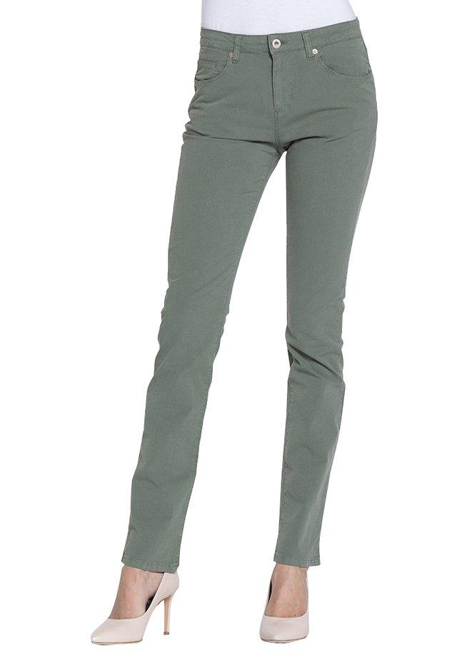 Jeans slim fit - verde militare