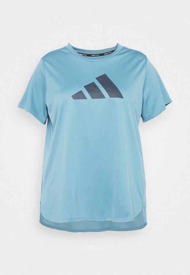 LOGO TEE - Print T-shirt - hazy blue/crew navy