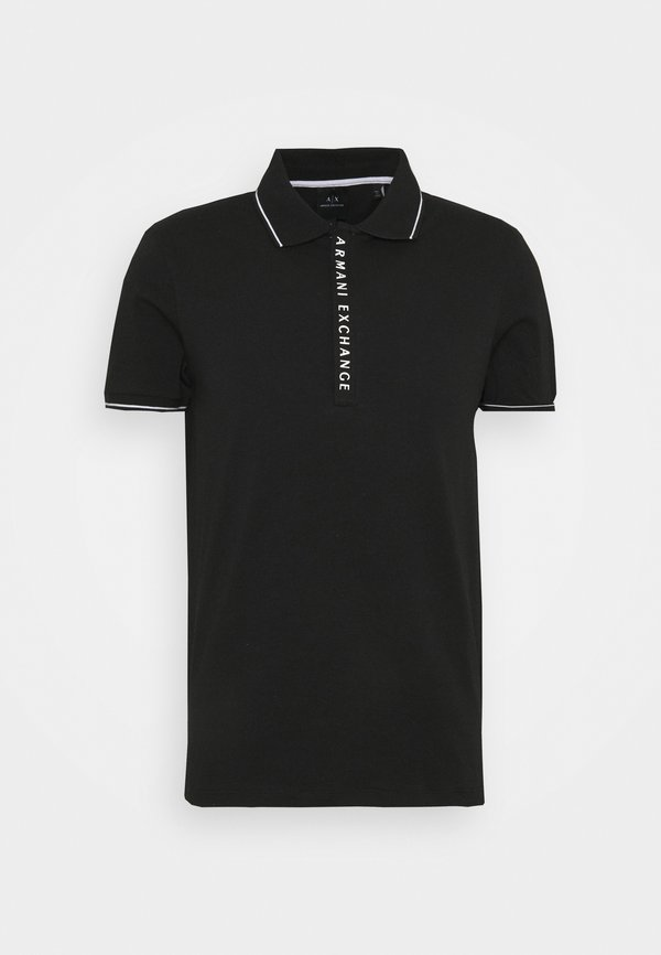 Armani Exchange Koszulka polo - black/czarny Odzież Męska NDFM