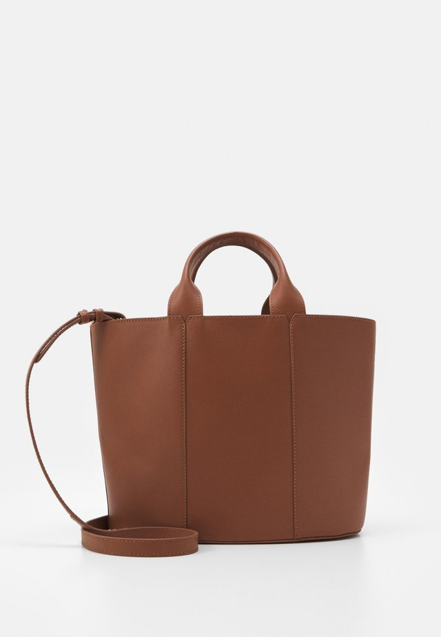 LEATHER - Handbag - cognac